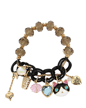 BETSEY GIFTING KITTY STRETCH BRACELET