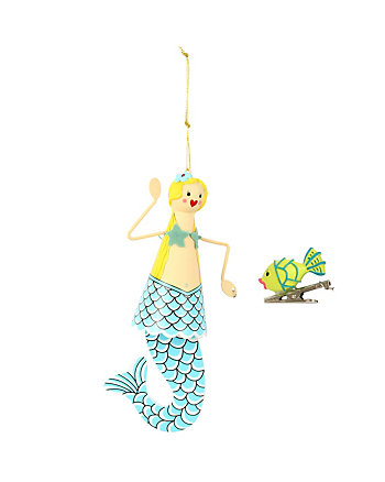 BETSEY GIFTING MERMAID AND FISH ORNAMENT