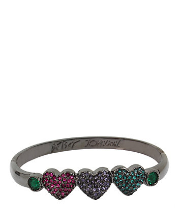 BETSEY GIFTING MULTI HEARTS BANGLE