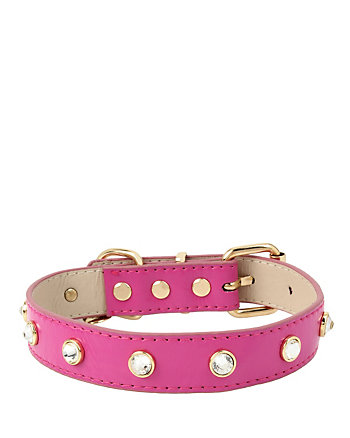 BETSEY GIFTING PINK STONE DOG COLLAR