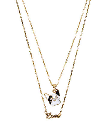 BETSEY GIFTING PUPPY LOVE 2 ROW NECKLACE