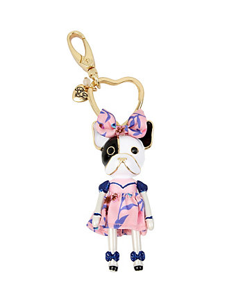 BETSEY GIFTING RUNWAY CRITTERS PUPPY KEYCHAIN
