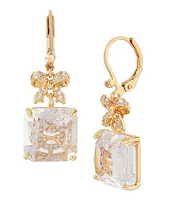 BETSEY MINI CZ CAT EARRINGS