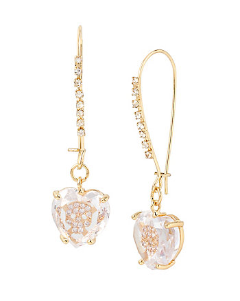 BETSEY MINI CZ SKULL SHEPHERD HOOK EARRINGS