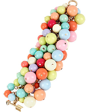 BETSEY RUNWAY BAUBLE TOGGLE BRACELET