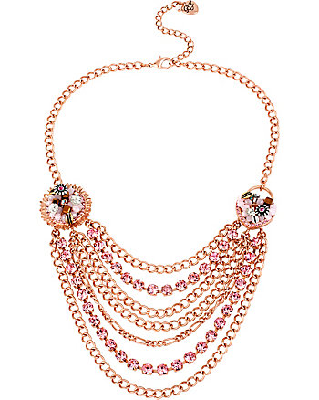 BETSEY WOVEN MULTI CHAIN NECKLACE