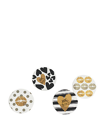 BETSEYFIED SET OF FOUR COASTERS