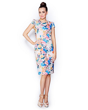 BETSEYS BEST BOUQUET MIDI DRESS