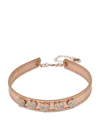 BETSEYS BEST GOLD HEART CHOKER ROSE GOLD