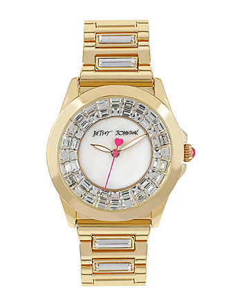 BETSEYS BLING BLING GOLD WATCH