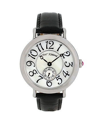 BETSEYS CLASSIC SILVER AND BLACK WATCH