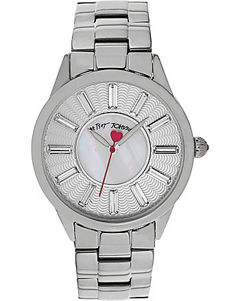 BETSEYS CLASSIC TEXTURED DIAL SILVER WATCH