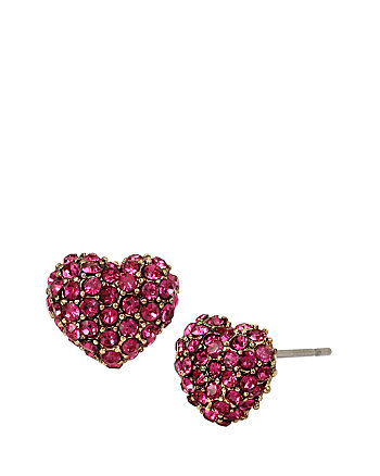 BETSEYS DELICATES HEART STUD EARRINGS