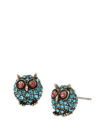 BETSEYS DELICATES OWL STUD EARRINGS