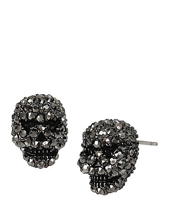 BETSEYS DELICATES SKULL STUD EARRINGS
