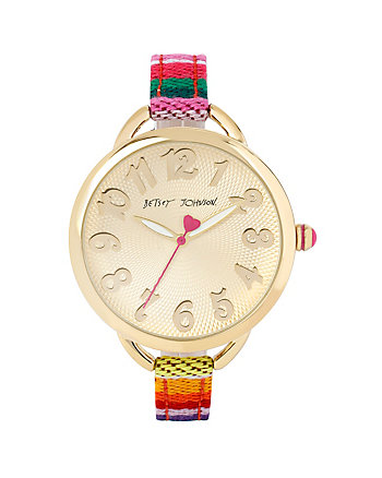 BETSEYS EARTHY GOLD SLIM WATCH