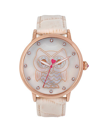 BETSEYS FAVORITE ROSE GOLD OWL WATCH