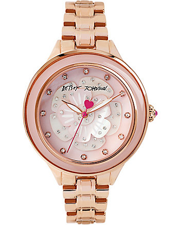 BETSEYS FLOWER POP ROSE GOLD WATCH