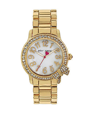 BETSEYS GOLD BOWTASTIC WATCH
