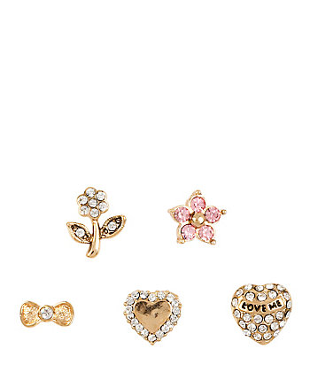 BETSEYS HEART 5 STUD SET
