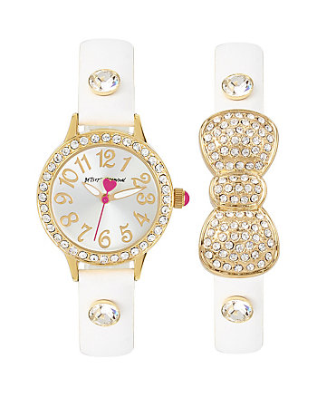 BETSEYS HOLIDAY BOW AND WATCH SET