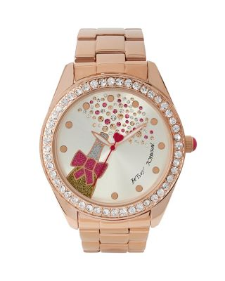 BETSEYS HOLIDAY BUBBLES POPPING WATCH ROSE GOLD
