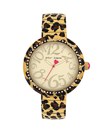 BETSEYS HOLIDAY LEOPARD EXPAND WATCH