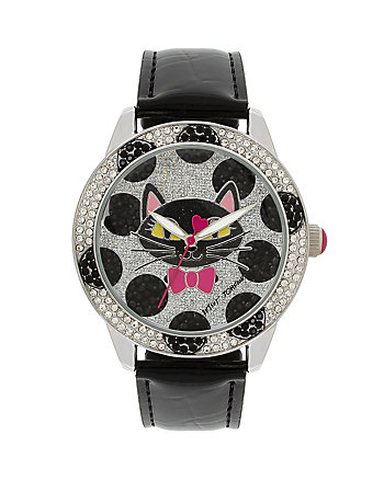 BETSEYS HOLIDAY SPOTTED CAT WATCH