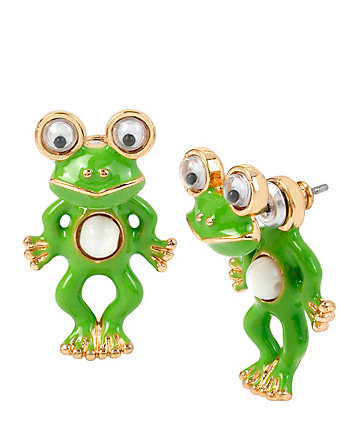 BETSEYS MINIS FROG EARRINGS