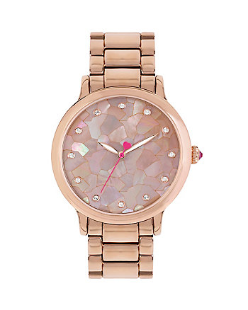 BETSEYS MOSAIC ROSE GOLD WATCH