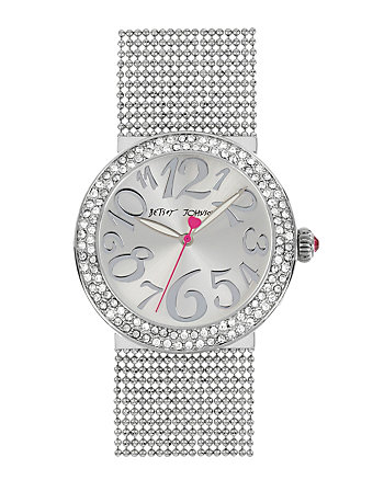 BETSEYS MULTI CHAIN BRACELET SILVER WATCH