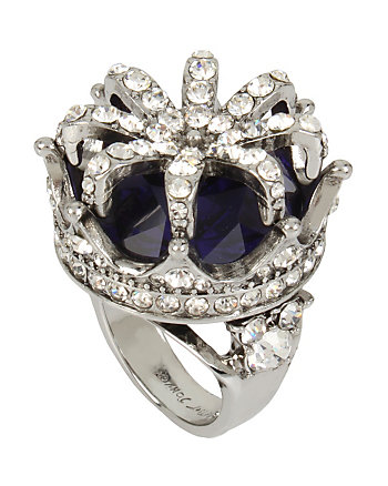BETSEYS PURPLE CROWN COCKTAIL RING