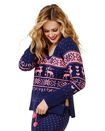 BETSEYS SKI BUNNIES COZY SWEATER TOP