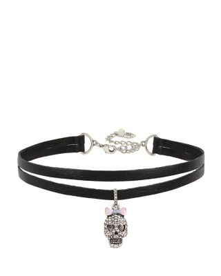 BETSEYS SKULL CHOKER BLACK