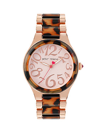BETSEYS WILD ROSE GOLD LEOPARD WATCH