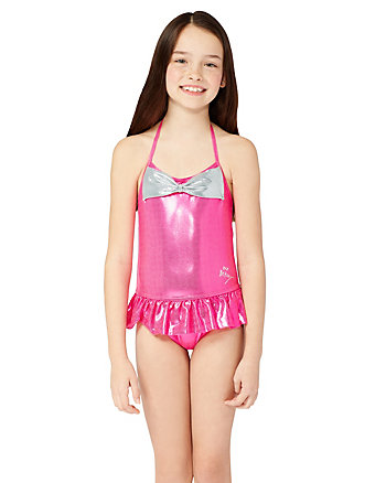 BJ GIRLS SWEET BOW 1 PIECE SWIMSUIT