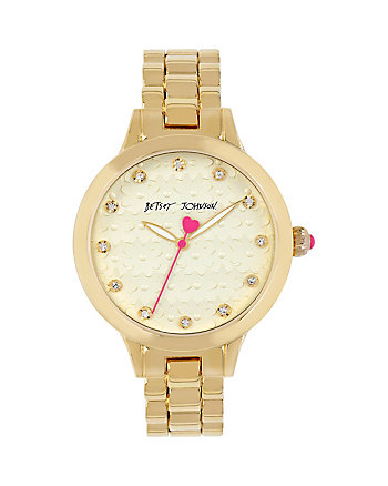 BJ GOLD FLOWER FACE WATCH