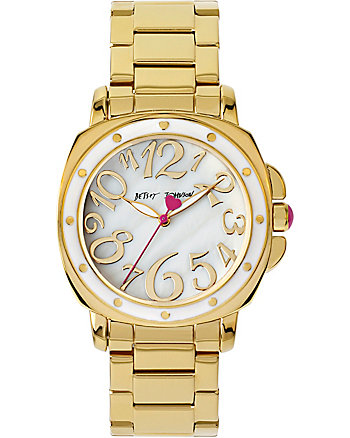 BJS CRAZY COOL GOLD AND WHITE WATCH