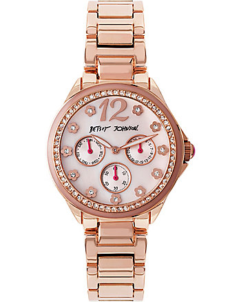 BJS FLOWER DIAL ROSE GOLD WATCH