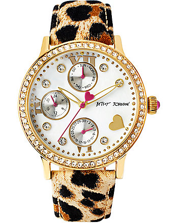 BJS LOVELY GOLD AND LEOPARD WATCH