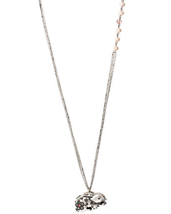 BJS MENAGERIE BUNNY LOCKET LONG NECKLACE