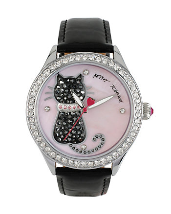 BJS PRETTY KITTY BLACK CAT WATCH