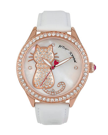 BJS PRETTY KITTY WHITE CAT WATCH