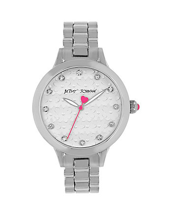 BJS SILVER FLOWER FACE WATCH