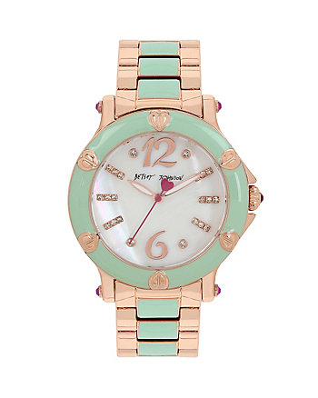 BLISSFUL MINT ENAMEL WATCH