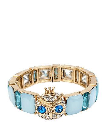 BLUE OWL STRETCH BRACELET