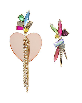 BOARDWALK SWEETS HEART MISMATCH EARRINGS