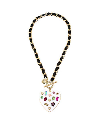 BOARDWALK SWEETS RESIN HEART PENDANT
