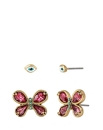 BOHO BETSEY EYE BUTTERFLY DUO EARRINGS