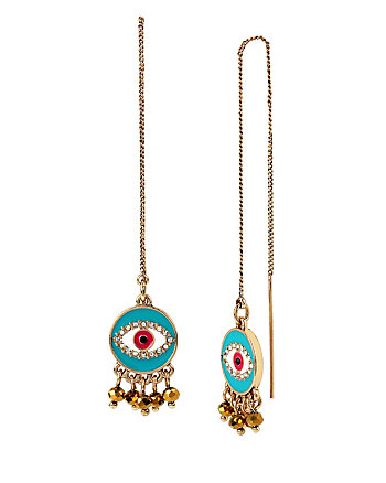 BOHO BETSEY EYE LINEAR EARRINGS